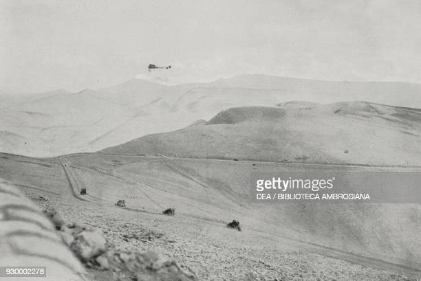 The Bleriot of Jorge Chavez flying over the Simplon Pass during the BrigDomodossola aircraft crossing September 23 Switzerland L'Illustrazione...