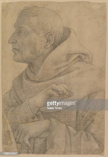 The Blessed Egidius , 1514–16, Charcoal or black chalk; outlines pricked and pounced for transfer, 15 5/16 x 9 5/8 in. , Drawings, Lo Spagna , This...