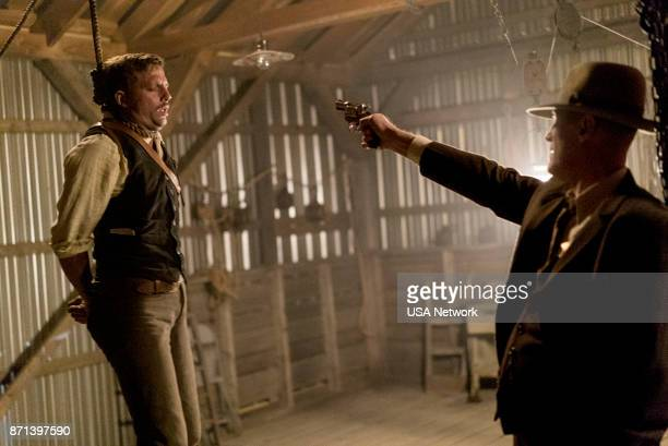 DAMNATION The Blessed Heart of Middle America Episode 103 Pictured Logan MarshallGreen as Creeley Turner Christopher Heyerdahl as Don Berryman