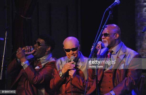 The Blind Boys of Alabama members Jimmy CarterClarence Fountain Paul Beasley Eric 'Ricky' McKinnie and Ben Moore perform at the Marc Cohn 6th Annual...