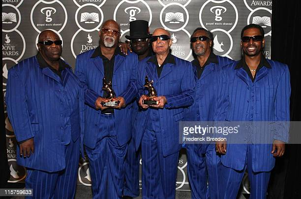 The Blind Boys of Alabama pose in the press room at the 40th Annual GMA Dove Awards held at the Grand Ole Opry House on April 23, 2009 in Nashville,...