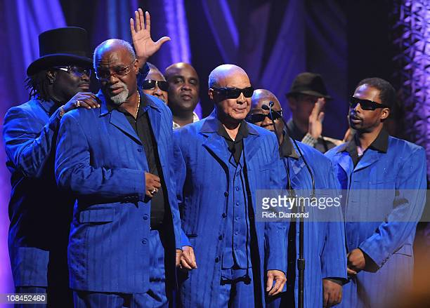 The Blind Boys of Alabama speak onstage at the 40th Annual GMA Dove Awards held at the Grand Ole Opry House on April 23, 2009 in Nashville, Tennessee.