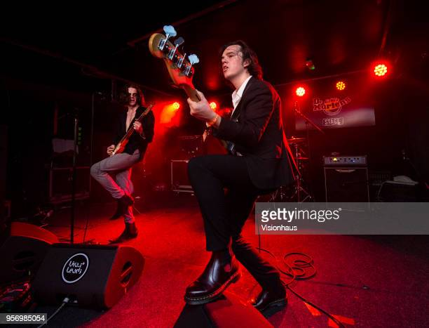The Blinders with Thomas Haywood on lead vocals and guitar Charlie McGough on bass and Matty Neale on drums perform at the Wardrobe as part of the...