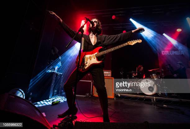 The Blinders with Thomas Haywood on vocals perform at the Academy 2 on October 15, 2018 in Manchester, England.