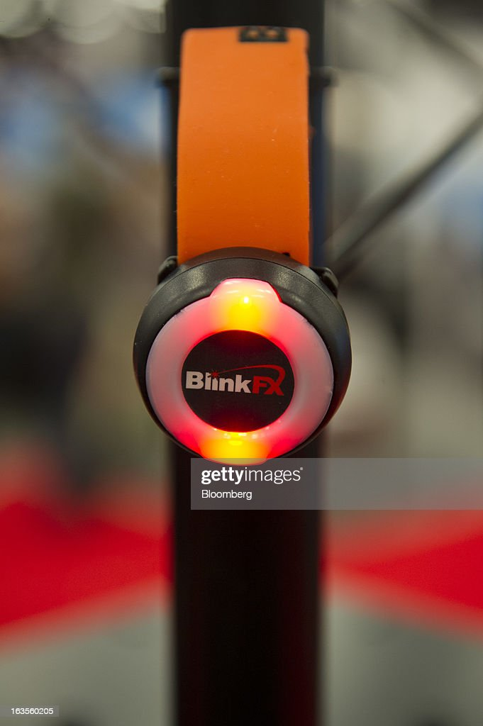 The BlinkFX wearable wrist band is displayed at the South By Southwest Conference (SXSW) in Austin, Texas, U.S., on Monday, March 11, 2013. The 20th annual SXSW Interactive Festival takes place from March 8-12. Photographer: David Paul Morris/Bloomberg via Getty Images