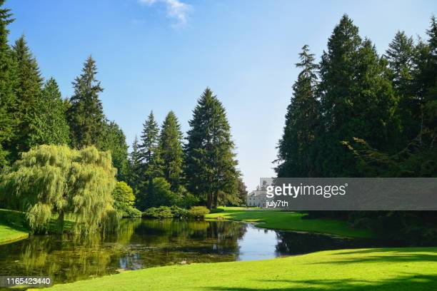 the bloedel reserve estate - kitsap county washington state stock pictures, royalty-free photos & images