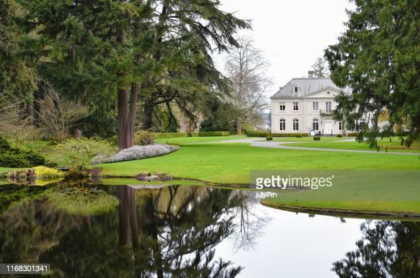 the bloedel reserve estate - bainbridge island stock pictures, royalty-free photos & images