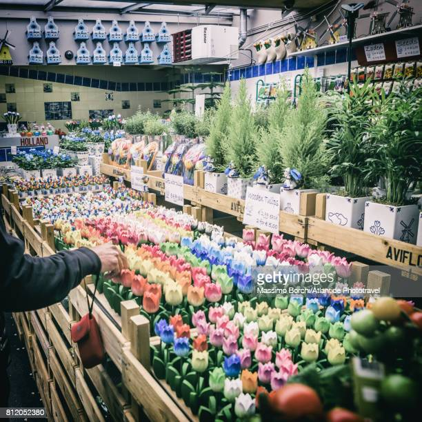 The Bloemenmarkt, wooden made tulips