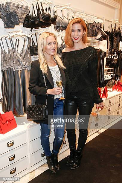 The blogger Sarah Fassnacht and Linda Mutschlechner attend the INTIMISSIMI Christmas Reception on December 09 2015 in Munich Germany