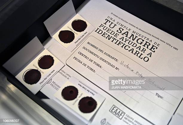 ALVAREZ The blood samples of Victoria Schwindt sister of Carlos Omar Schwindt who was kidnapped and disappeared together with his wife in 1976 are...