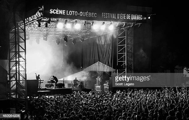The Bloody Beetroots perform at Festival D'ete De Quebec on July 8 2014 in Quebec City Canada