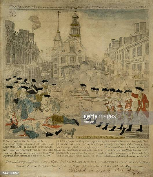 The Bloody Massacre perpetrated in King Street Boston on March 5th 1770 by a party of the 29th Reg't