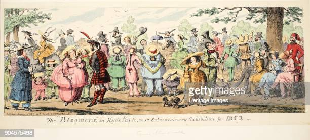 The Bloomers in Hyde Park or An Extraordinary Exhibition for 1852, pub. 1852 ..