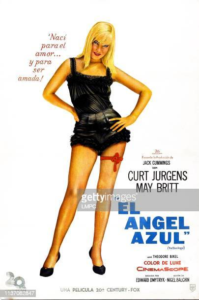 The Blue Angel poster Argentine poster May Britt 1959