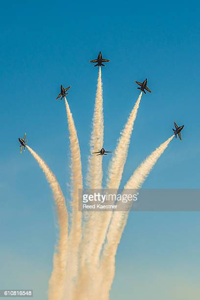 The Blue Angels perform at an air show.