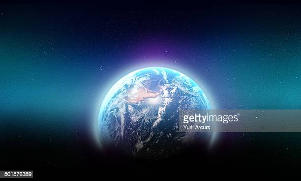 the blue beauty of our galaxy - spirituality stockfoto's en -beelden