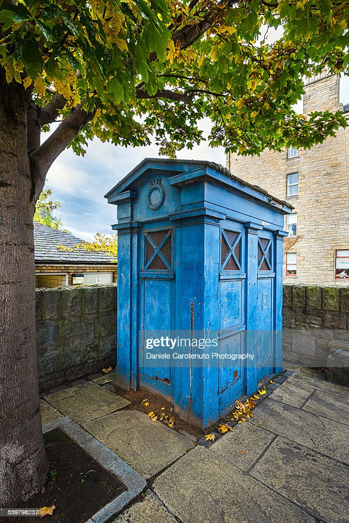 The blue box : Stock Photo