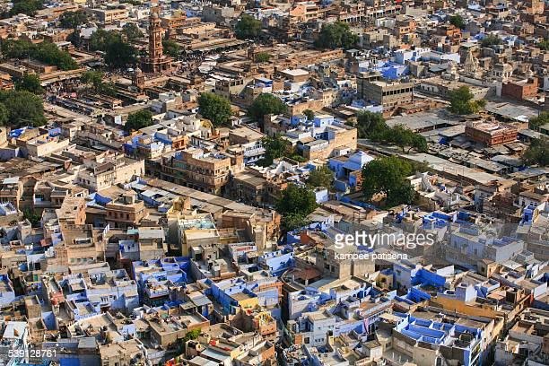 the blue city houses of jodphur