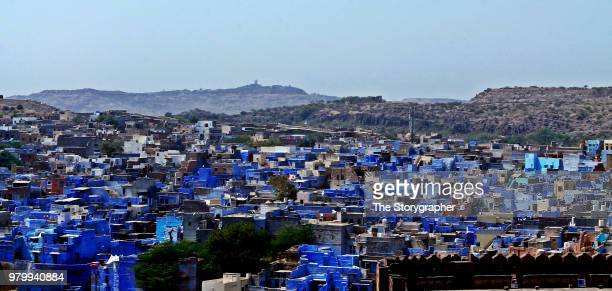 the blue city - jodhpur - the storygrapher stock-fotos und bilder