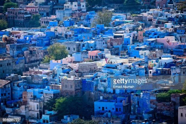 the blue city, jodhpur, rajasthan, india - jodhpur stock pictures, royalty-free photos & images