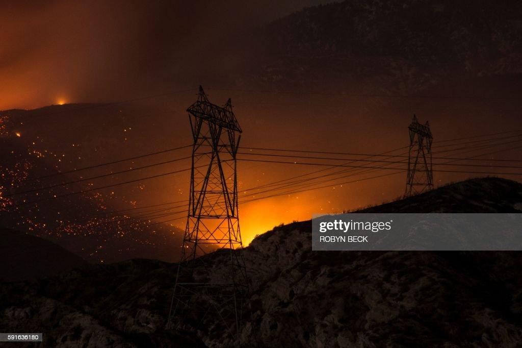 US-WEATHER-FIRE-CALIFORNIA : News Photo