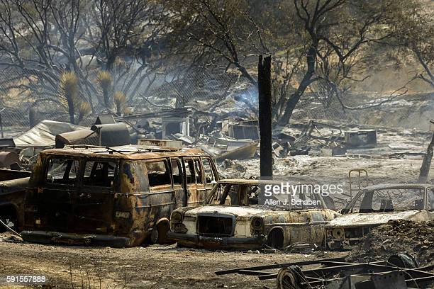 The Blue Cut fire exploded out of control Tuesday in the Cajon Pass scorching 18000 acres and destroyed an unknown number of homes in several rural...
