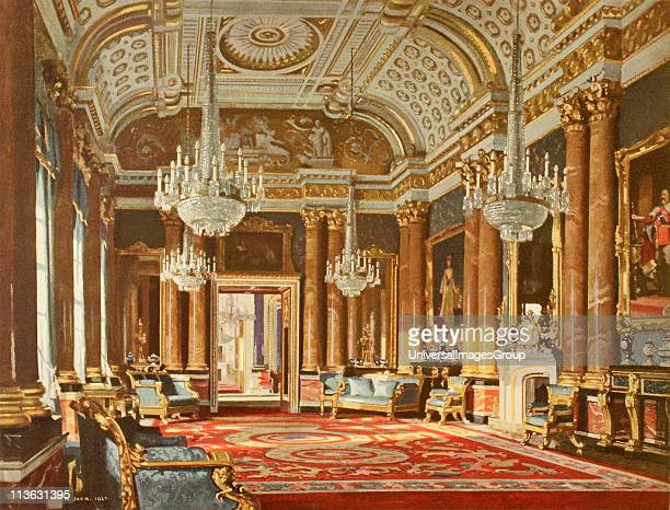 The Blue Drawing Room formerly the Ballroom in Buckingham Palace London England From the book Buckingham Palace It's Furniture Decoration and History...