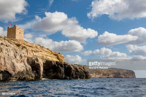 The Blue Grotto on the coast in Malta