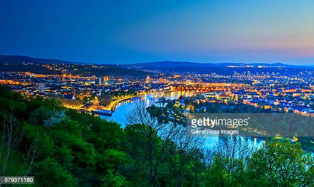 The Blue Hour at Koblenz, Germany