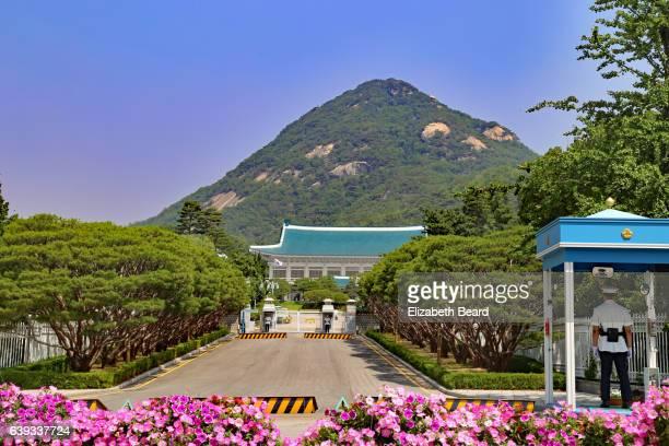 the blue house, home of the korean president, seoul - corea del sur fotografías e imágenes de stock