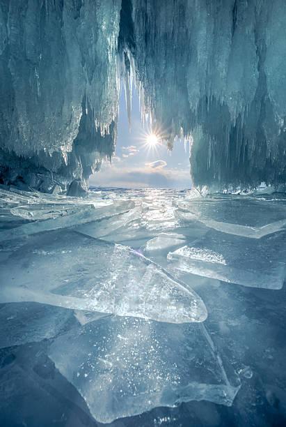 The Blue Ice Cave At Lake Baikal Wall Art