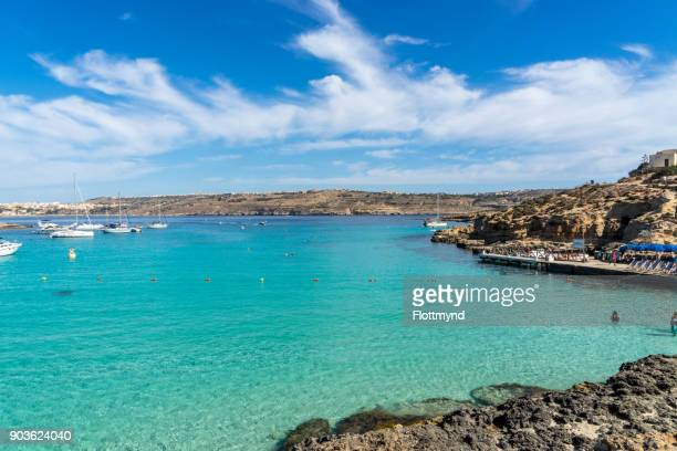 the Blue Lagoon gets its name from the beautiful colours of the sea
