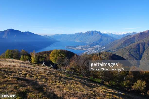 The blue Lake Maggiore
