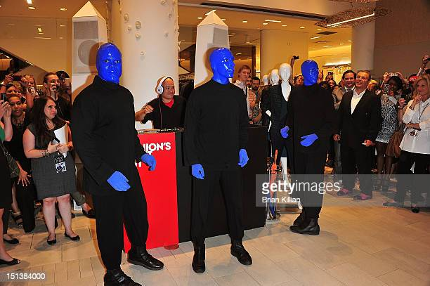 The Blue Man Group celebrates Fashion Night Out at Saks 5th Ave on September 6 2012 in New York City