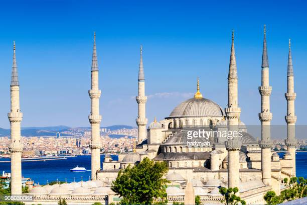 The Blue Mosque in late afternoon sun, Istanbul, Turkey