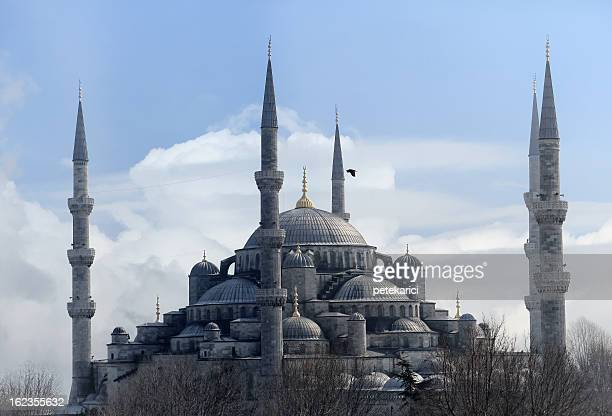 the blue mosque - ottomaanse rijk stockfoto's en -beelden