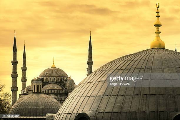 the blue mosque - hagia sophia stock pictures, royalty-free photos & images