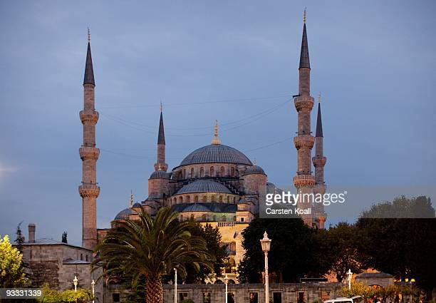 The Blue Mosque, Sultanahmet Camii, on October 15, 2009 in Istanbul, Turkey. The Turkish metropolis on the Bosphorus, in the past capital various...