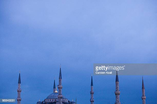 The Blue Mosque, Sultanahmet Camii, on October 17, 2009 in Istanbul, Turkey. The Turkish metropolis on the Bosphorus, in the past capital various...