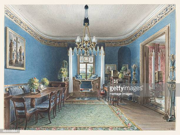 The Blue Room Schloss Fischbach 1846 Found in the collection of the CooperHewitt National Design Museum