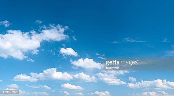the blue sky panorama 43mpix - xxxxl size - cloud sky stock pictures, royalty-free photos & images