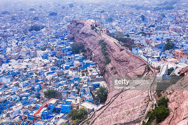 The blue town from Meherangarh Fort