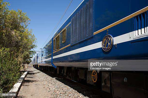 The Blue Train in the Karoo at Matjiesfontein South Africa