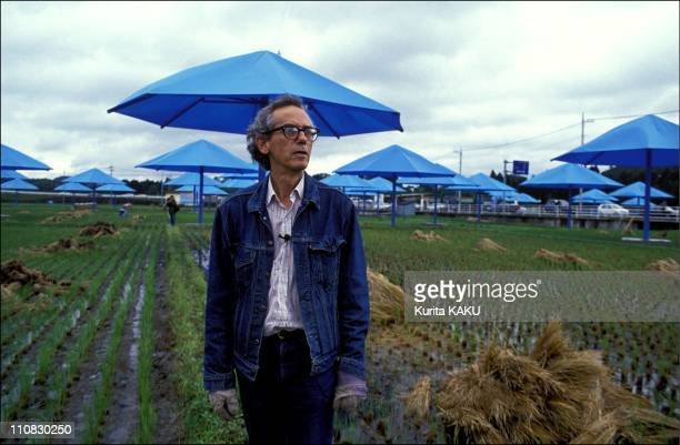 The Blue Umbrellas Of Christo In Japan In October 1991 Christo