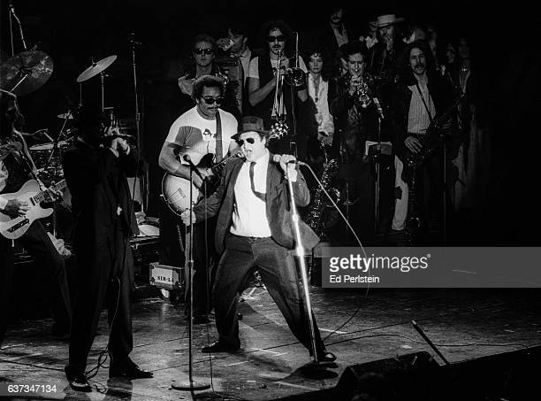 The Blues Brothers perform in concert at Winterland Arena on December 31 1978 in San Francisco California