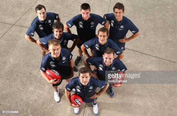 The Blues leadership group of Marc Murphy Ð captain Sam Docherty Ð vicecaptain Patrick Cripps Ð vicecaptain Kade Simpson Ed Curnow Matthew Kreuzer...