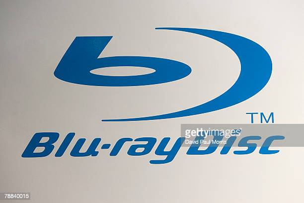 The Bluray disk logo is seen at the 2008 International Consumer Electronics Show at the Las Vegas Convention Center January 8 2008 in Las Vegas...