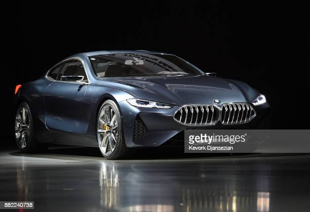 The BMW 8 Series concept car is unveiled during the auto trade show AutoMobility LA at the Los Angeles Convention Center November 29 in Los Angeles...