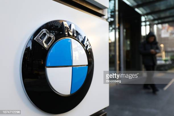 The BMW AG logo is displayed outside a building housing the company's offices in Seoul South Korea on Monday Dec 24 2018 BMW is facing a criminal...