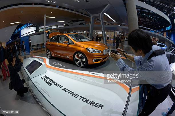 The BMW Concept Active Tourer Outdoor is shown at the Frankfurt Auto Show 2013 in Frankfurt Germany 10 September 2013 It is a novel plugin hybrid...
